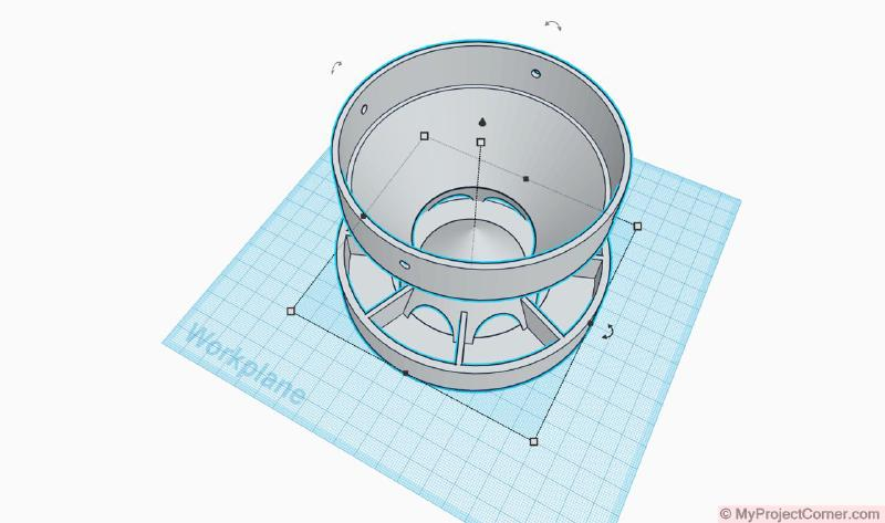 Updated design of 3D printed chicken feeder for PVC pipe