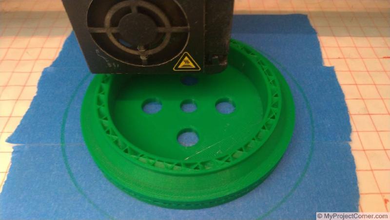 3d printing the parts for storage jar fly trap