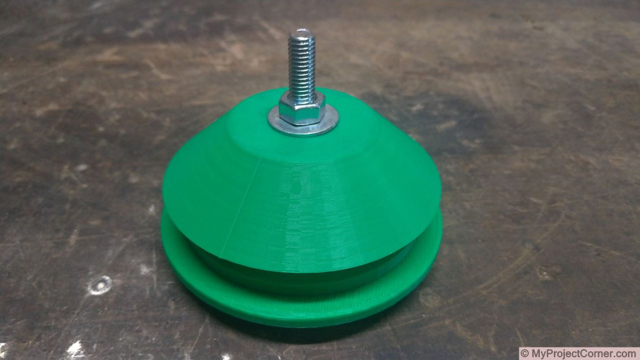 Fly trap printed parts assembled