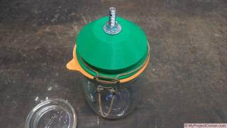 Making A Fly Trap From A Storage Jar