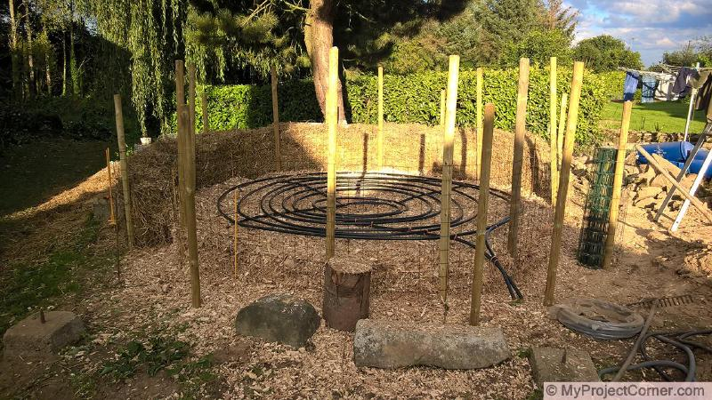laying out the compost heating system