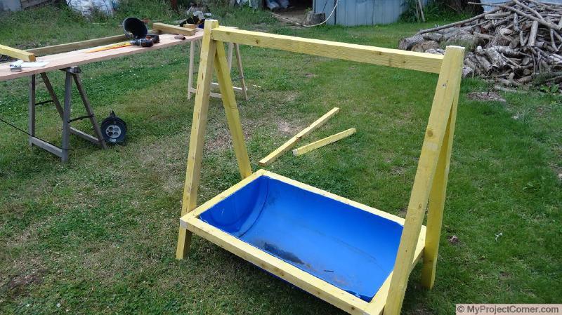Building the framework for chicken slaughter station