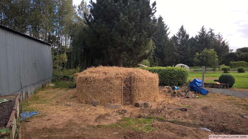 Finished compost heating system