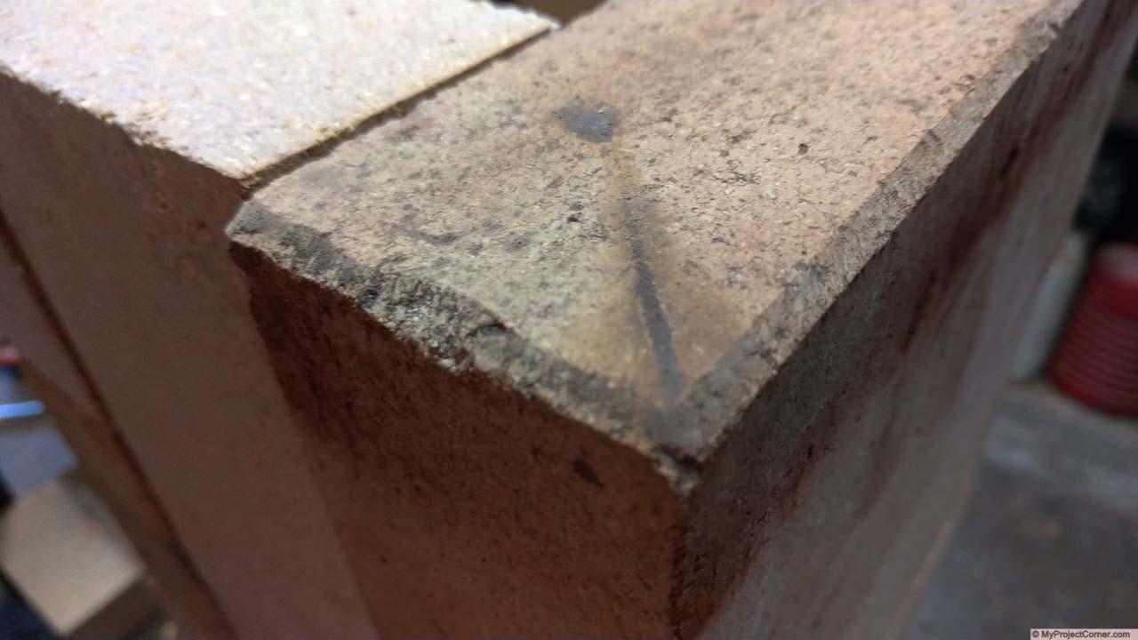 chamfered bricks for fire box