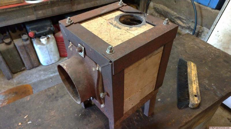 original pellet stove fire box