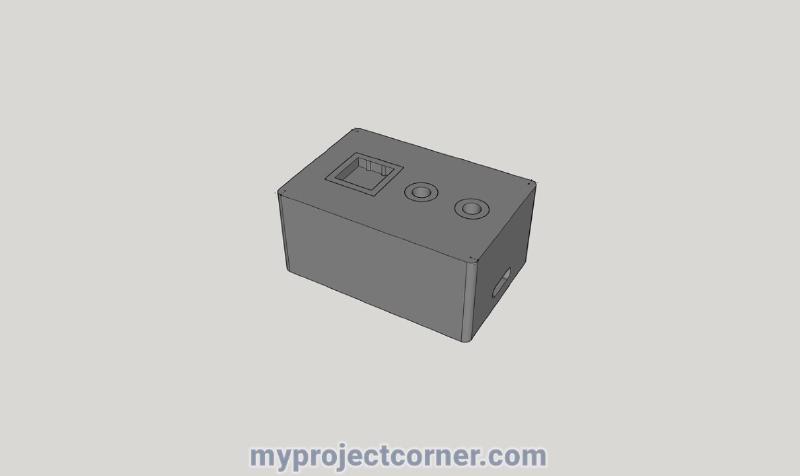 Modelo de SketchUp para el registrador de tiempo Raspberry pi