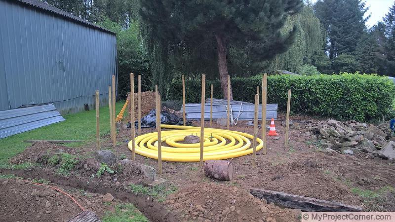 base de astillas de madera para la pila de abono