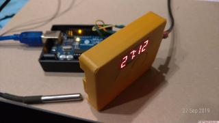 Unidad de temperatura y cronómetro con Arduino