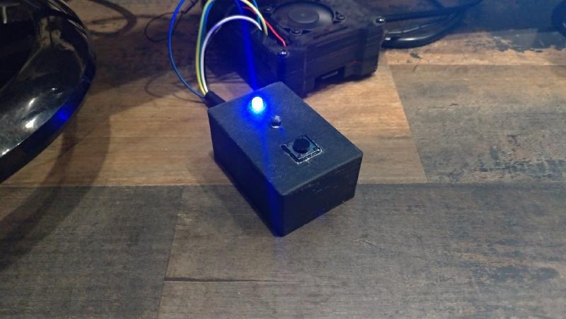 L'enregistreur de temps Raspberry Pi terminé