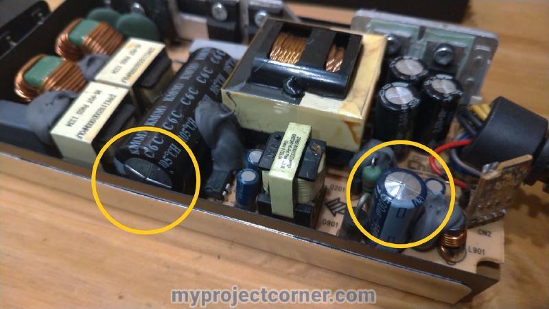 Montrer aux condensateurs défectueux