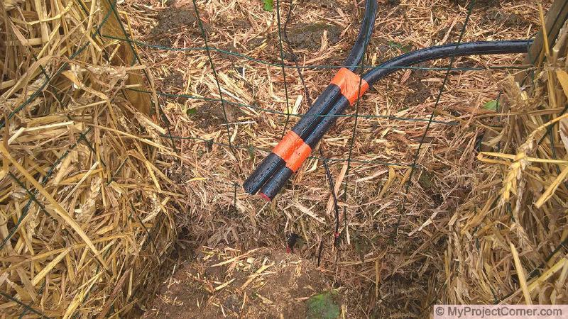 la mise en place du système de chauffage du compost