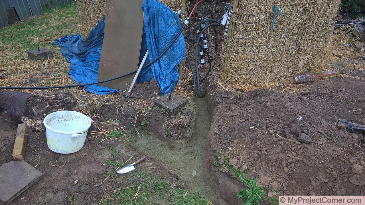 le raccordement du système de chauffage du compost