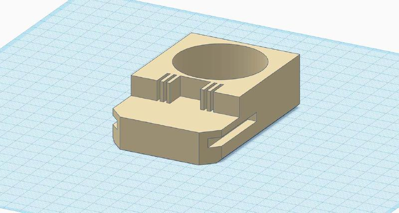 tinkercad model of main part