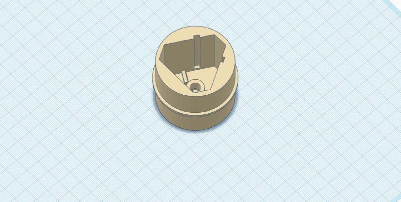 tinkercad model of adaptor part