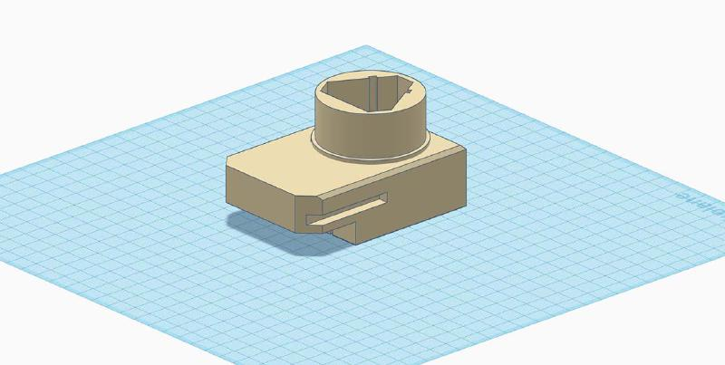 tinkercad model of assembled parts
