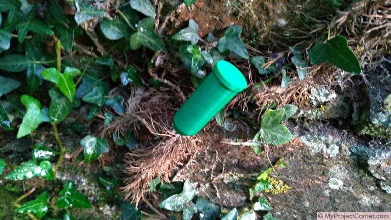My 3D printed Ivy killer inserted into ivy stem