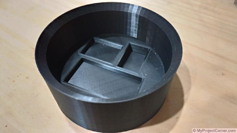 3d printed base for sunrise lamp ready for assembly