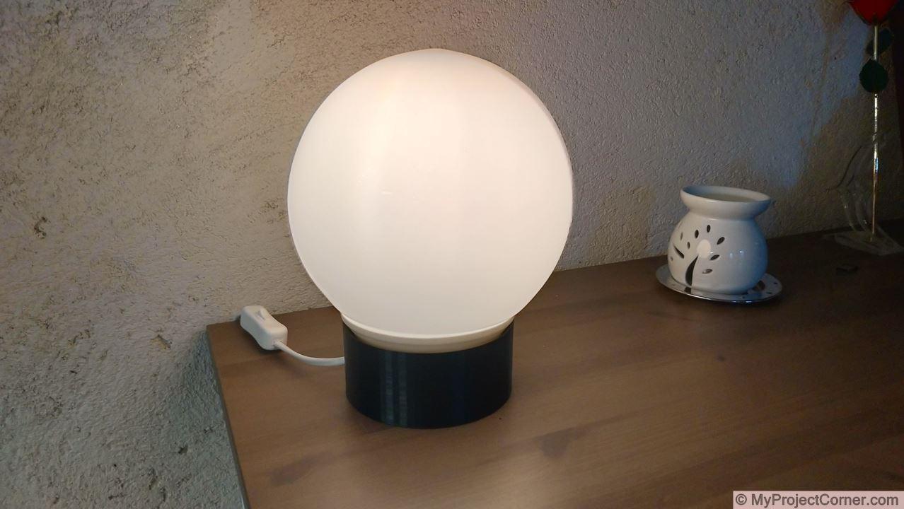 Finished Sunrise Alarm Lamp