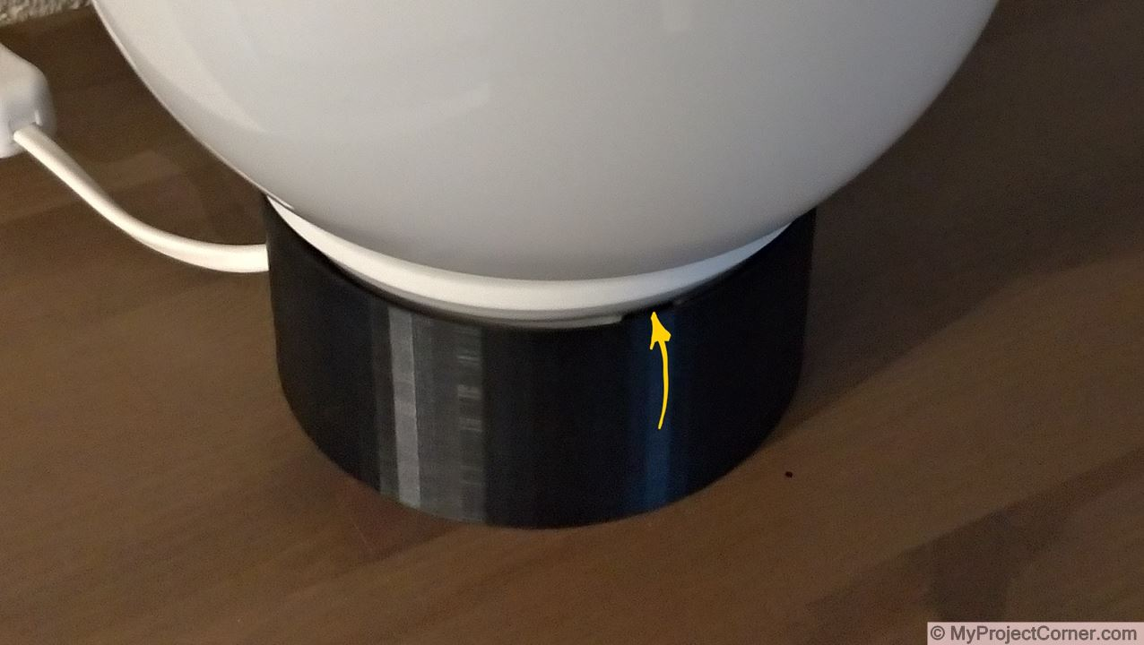 showing gaps in sunrise lamp assembly