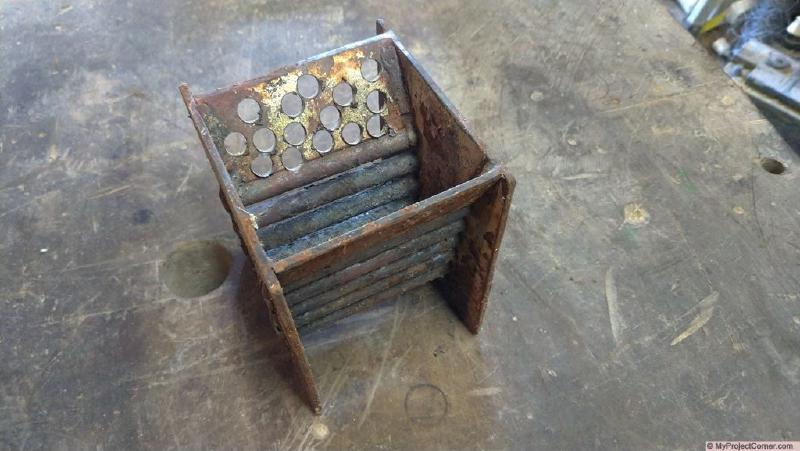 pellet rocket stove combustion chamber one