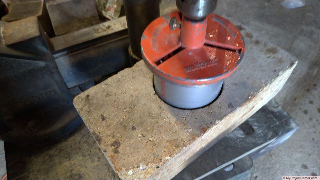 Drilling the fire brick