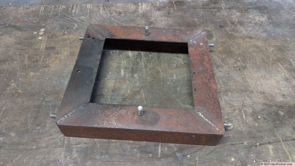 framework for wood pellet rocket stove