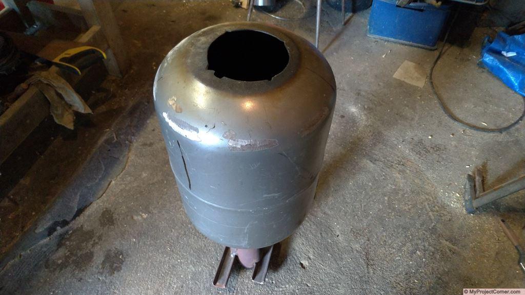 rocket stove hopper assembly