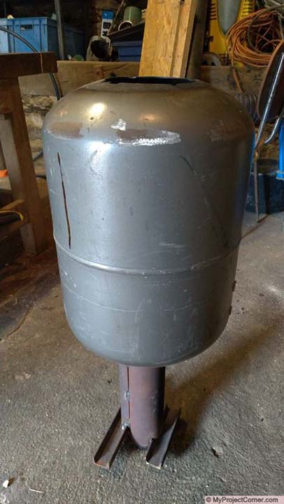 pellet rocket stove hopper assembly