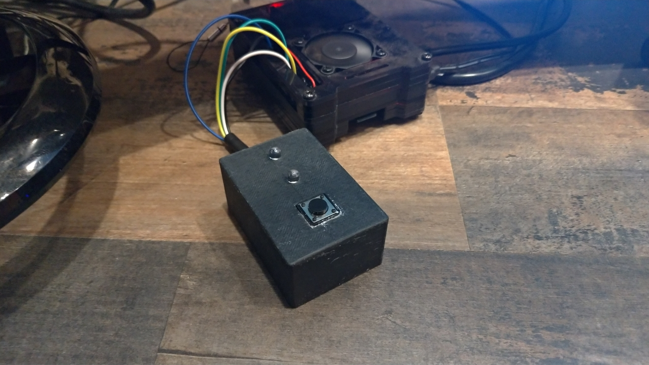 The Finished Raspberry pi time recorder connected and ready