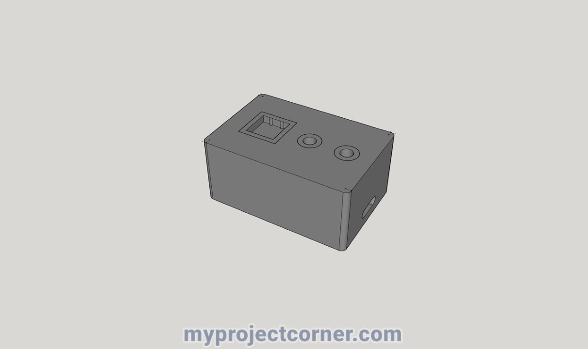 SketchUp model for Raspberry pi time recorder