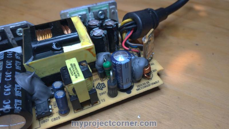 Ready to un-solder capacitor on the xbox one psu