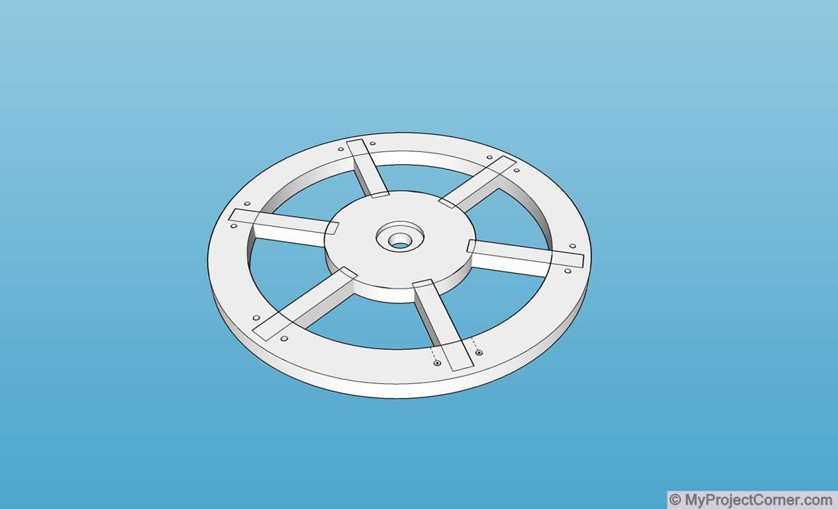 SketchUp model of lawn scarifier attachment
